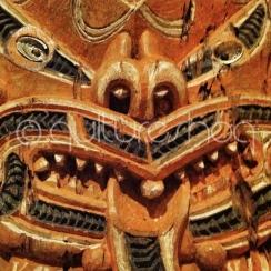 Maori Carving Close Up